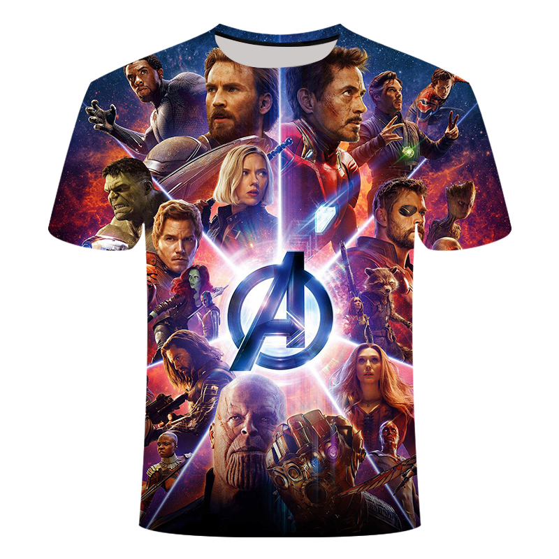 2019 New Arrive Popular Movie Avengers 4 Endgam Marvel T Shirt 3D Print Fashion Short Sleeve Tshirt Streetwear Casual Summer Top