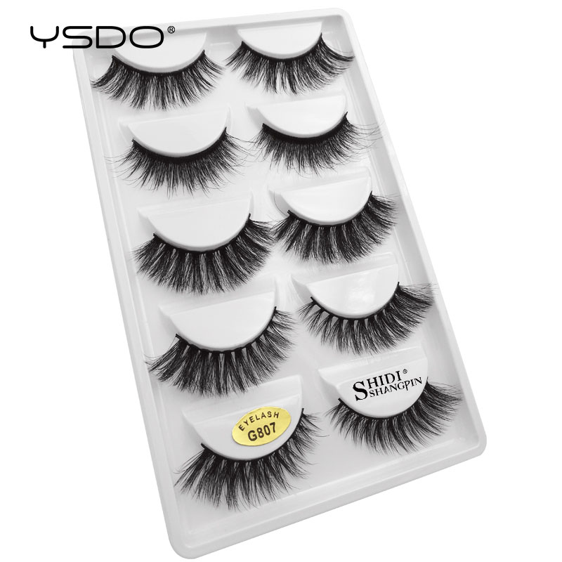 Image 2 - YSDO 50 boxes eyelashes mink eyelash strip 3d lashes false lashes makeup 3d mink lashes 250 pairs eyelashes extension wholesale-in False Eyelashes from Beauty & Health