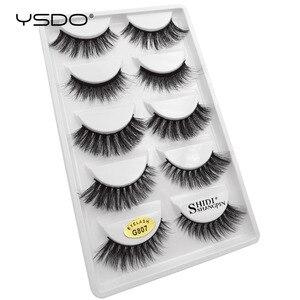 Image 2 - YSDO 50 boxes eyelashes mink eyelash strip 3d lashes false lashes makeup 3d mink lashes 250 pairs eyelashes extension wholesale