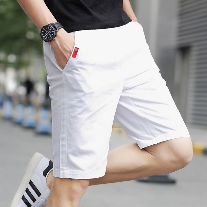 BOY'S Summer Shorts Korean-style Trend Man Large Boxers Semi-Section Outer Wear Versatile Loose Casual Leg Shorts