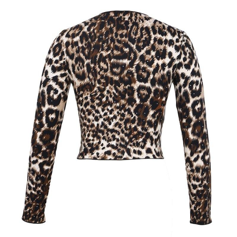 Women Leopard Print Long Sleeve T-Shirt
