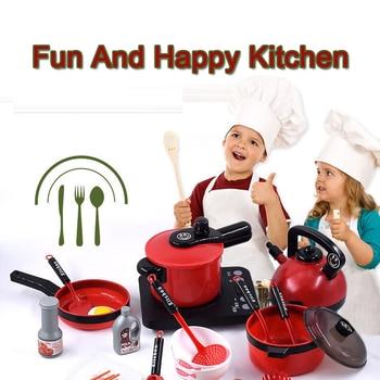 11-56pcs Children Mini Kitchen Toys Set Cookware Pot Pan Kids Pretend Cook Play Game Simulation Kitchenware Utensils Toys Gift 1