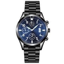 Men's Watches Calendar Quartz Classic Business-Steel HEZHUKEJI Popular Relogio Luminous