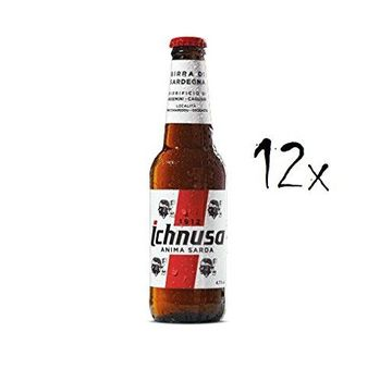 Ichnusa 12x Birra Anima Sarda Sardinian Lager Beer 330cl. 4,7% Vol Italian!