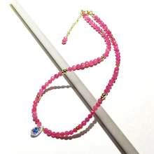 Lii ji ожерелье из натурального драгоценного камня с розовым