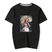 2019 new Hot Sale Tops Sex Ariana Grande Print Casual 100% Cotton Men T-shirt Street wear popular With youth Men's Top Tees