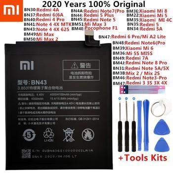 Oryginalny XiaoMi wymiana baterii dla Xiaomi Mi Redmi uwaga Mix 2 3 3S 3X 4 4X 4A 4C 5 5A 5S 5X M5 6 6A 7 8 Pro Plus baterie tanie i dobre opinie 3501 mAh-5000 mAh CN (pochodzenie) BN31 BN34 BN41 BN43 BN44 BN45 BM22 BM46 BM47 BM4E BN40 BN47 BM3E BM4J Xiaomi Redmi 4A Redrice Hongmi 4a