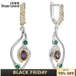 DreamCarnival1989 New Geometric Earrings Women Blue Green Zirconia Crane Bird Look Jewelry September Party Must Have WE3950