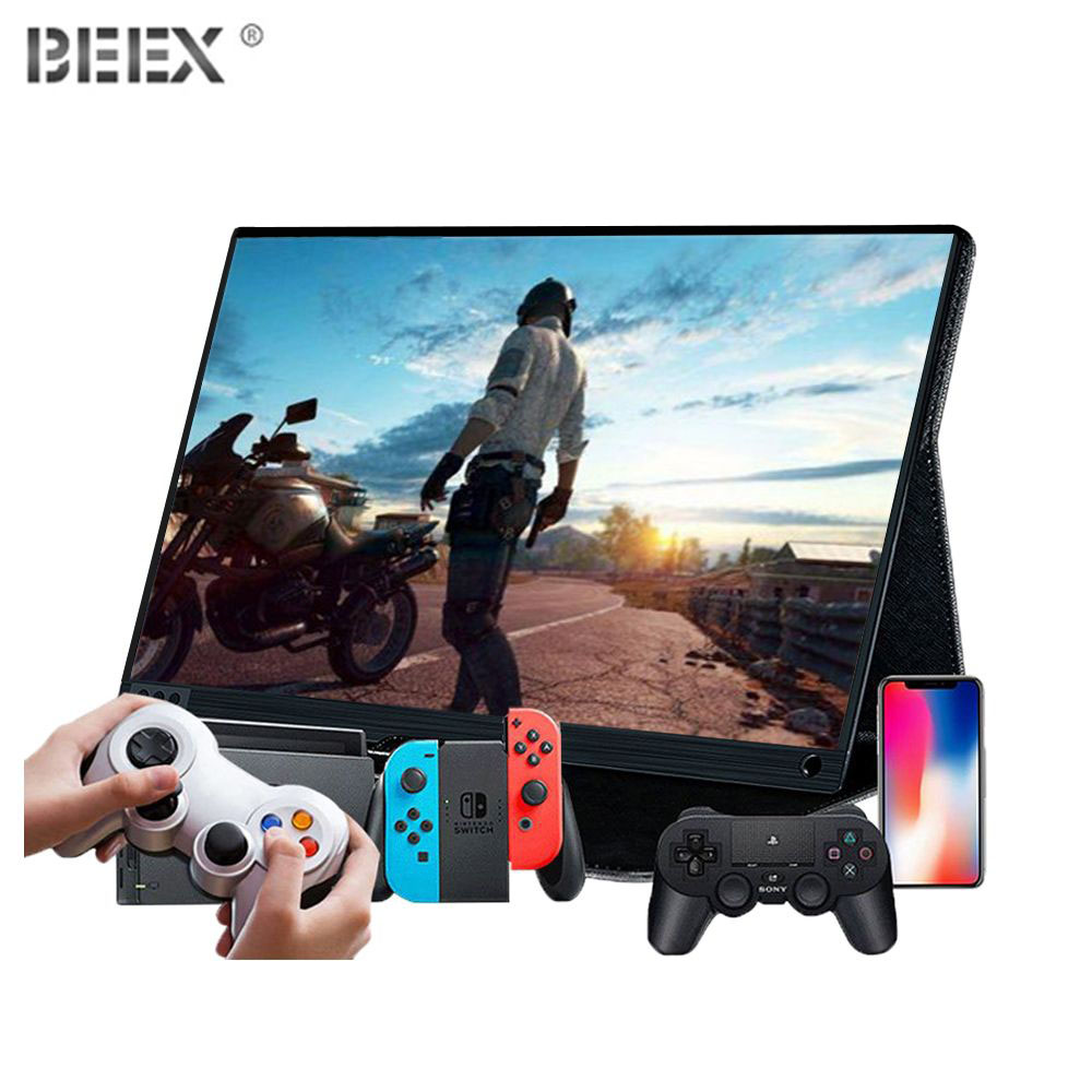HD Monitor Portable  Switch For Game Support PC Mobile Phone Movie Office 15.6-inch LCD Display 1080P BEEX