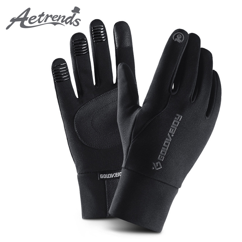 [AETRENDS] Men's Winter Warm Gloves Waterproof And All Finger Touch Screen Gloves For Cycling And Outdoor Work O-0013