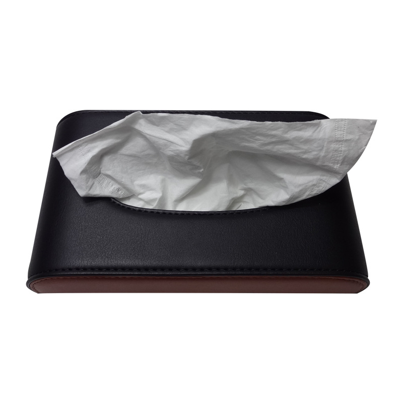 Half-Car Mounted Car Multi-functional Napkin Tissue Box Microfiber Hide Substance Paper Extraction Box Manufacturers Customizabl