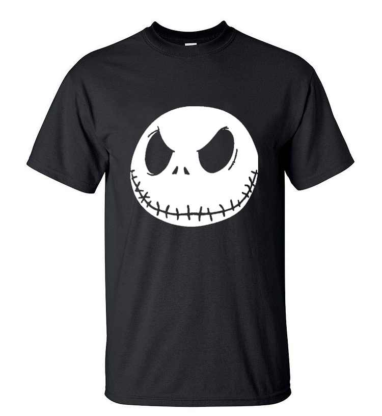 Nightmare Before Christmas T-shirt Cartoon Jack Skellington Mannen T-shirt Hip Hop Zomer Ronde Hals Schedel Katoen Streetwear Shirts