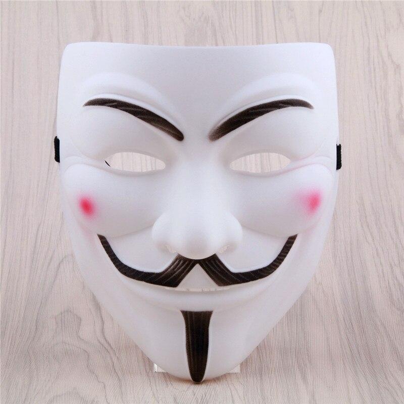 1 pièces V pour Vendetta Masque De Mascarade De Halloween Effrayant Parti Fournitures Cosplay Costume Accessoire Accessoires Anonyme Film de Guy Fawkes