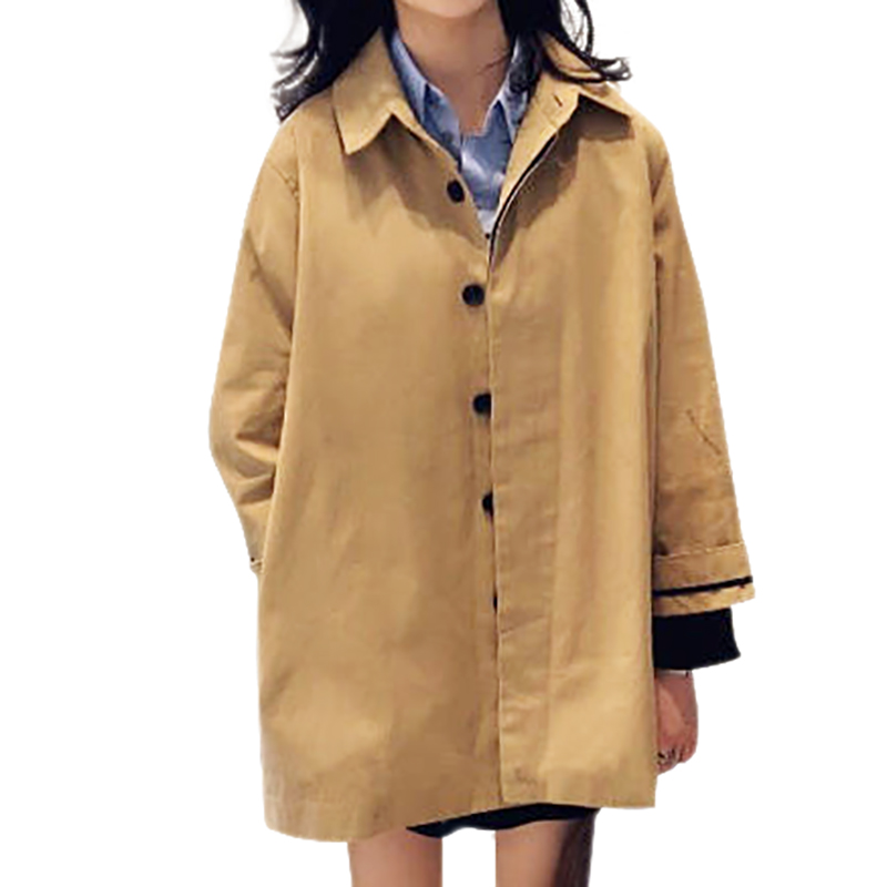 Women Autumn Winter Warm Long-sleeved Lapel Coat Cotton Jacket Solid Color Coat Mid-length Tops Newest