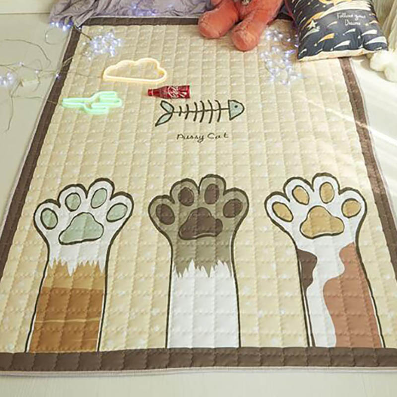 Newborn Playmat Crawling Carpet Kids Rug Baby Carpets Cotton Cartoon Printing Accessories Room 140*200cm BXX032
