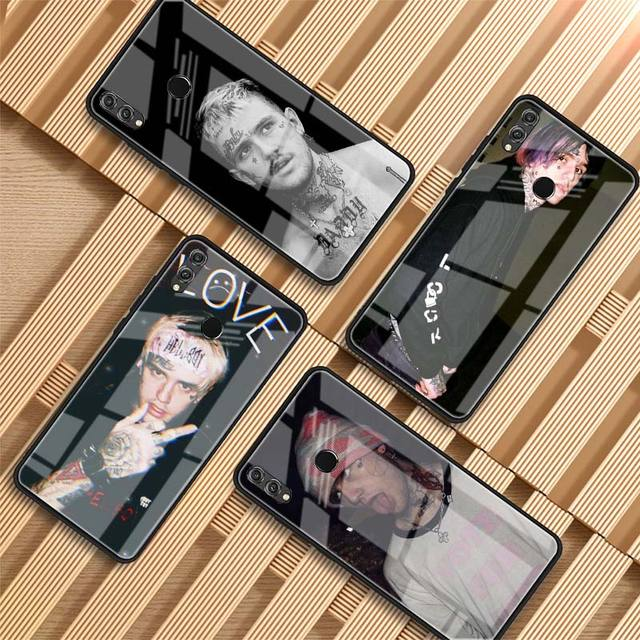 LIL PEEP THEMED TEMPERED GLASS HUAWEI PHONE CASE (12 VARIAN)