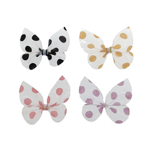 20pcs/lot Fashion Speck Bowknot Hair Clip Transparent 3.8cm Bows For Girls Hairpins Headband NO CLIPS DIY Accessories B185