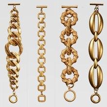 Dvacaman, винтажный золотой цвет, ZA, браслеты-цепочки для женщин, новейшая мода, Женские Ювелирные изделия, браслеты-шармы, браслеты, подарки