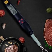 Открытый барбекю температура вилка электронный барбекю вилка еда термометр с фонариком