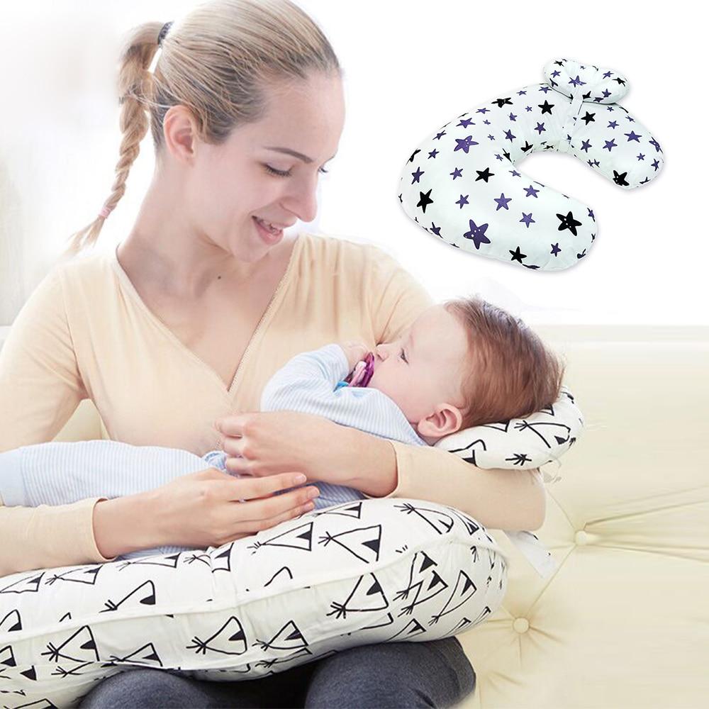 2Pcs/Set Baby Nursing Pillows Maternity Baby Breastfeeding Pillow Infant Cuddle U-Shaped Newborn Cotton Feeding Waist Cushion