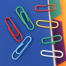 200PCS 28MM color coated plastic paper clip environmental protection