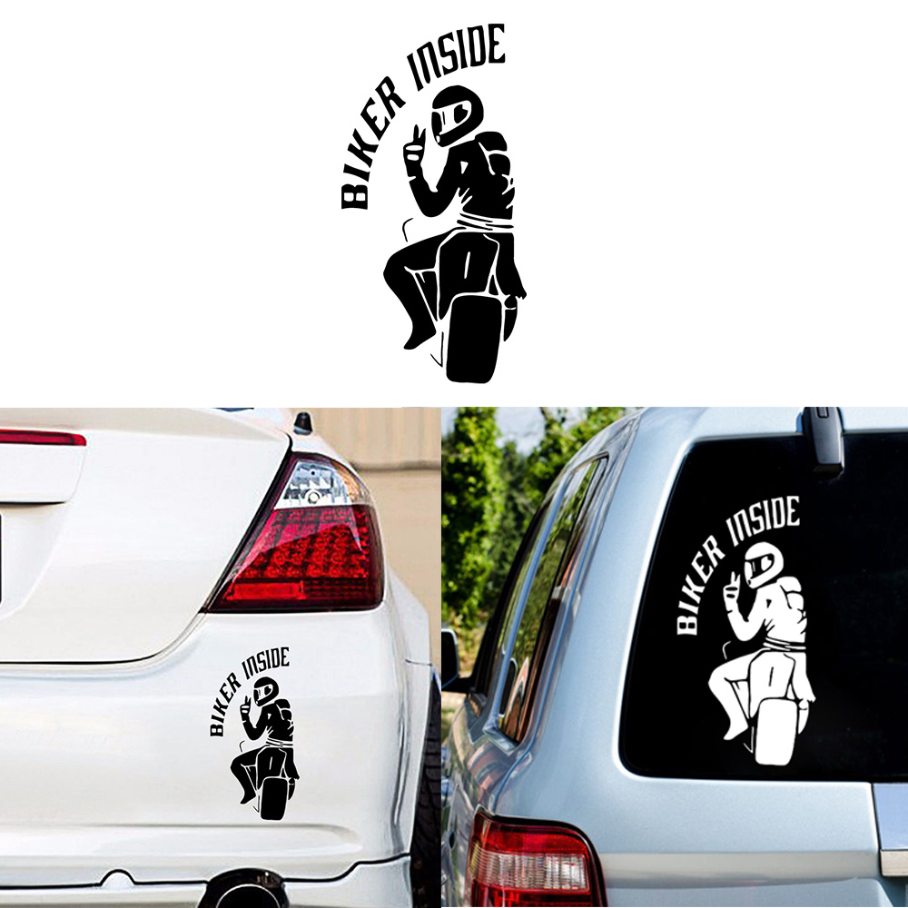 Car Stickers Biker Inside Funny Decal Auto Window Body Waterproof Removable Decor Car-styling Cars Accessories Glue Sticker PVC