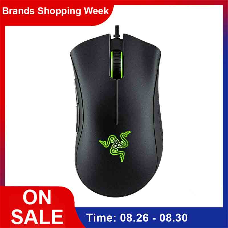 Razer Optical-Sensor Programmable-Buttons Wired Gaming-Mouse Ergonomic-Design Deathadder-Essential