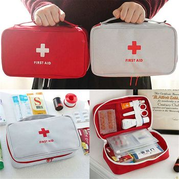 New Empty Large First Aid Kit Emergency Medical Box Portable Travel Outdoor Camping Survival Medical Bag Big Capacity Home/Car image