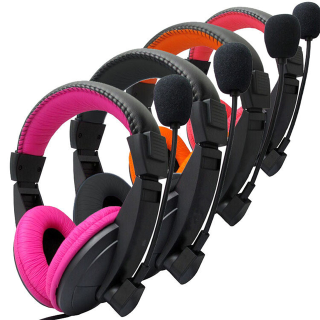 Stereo Bass Computer Gaming Headset On ear Wired Headphone 3.5mm AUX Earphone With Microphone For PC Phone Computer Game Skype