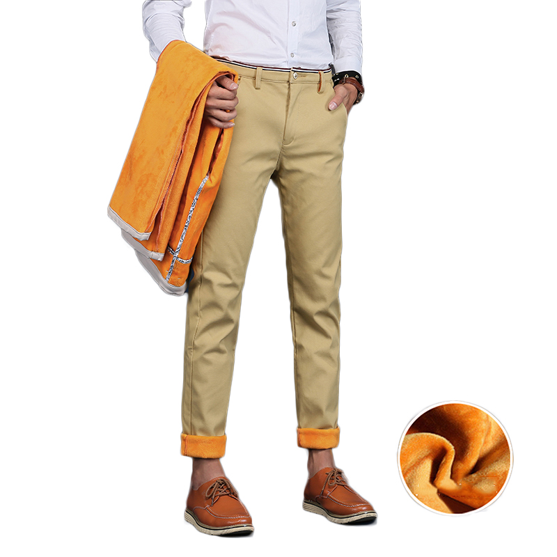 HCXY 2019 Men Pants Cotton warm Straight Trousers autumn and winter Men s Plus velvet Casual HCXY 2019 Men Pants Cotton warm Straight Trousers autumn and winter Men's Plus velvet Casual Pants Plus size 28-38
