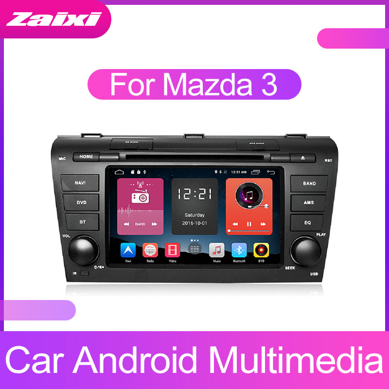 ZaiXi Android Car Multimedia player 2 Din WIFI <font><b>GPS</b></font> Navigation Autoradio For <font><b>Mazda</b></font> <font><b>3</b></font> 2006~2012 <font><b>GPS</b></font> Radio FM <font><b>Maps</b></font> BT image