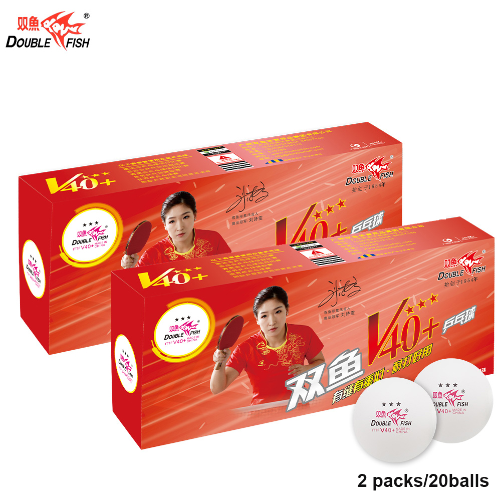 2019 New DOUBLE FISH Volant V40+ 3 Stars Table Tennis Balls  ABS Pingpong Ball ITTF Approved WTTC COMPETITION Ball 2PACKS/20BALL