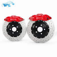 KOKO RACING 362*32mm drill disc street using DICASE A61 cheap high quality 6 pot red brake caliper 19 inches for Volvo xc60 2015