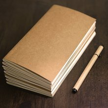 JIANWU Creative kraft paper Traveler notebook inside page Diary notebook Various styles kraft cover notebook paper traveler s notebook kraft refill inner core page page for vintage travelers notebook 3 size