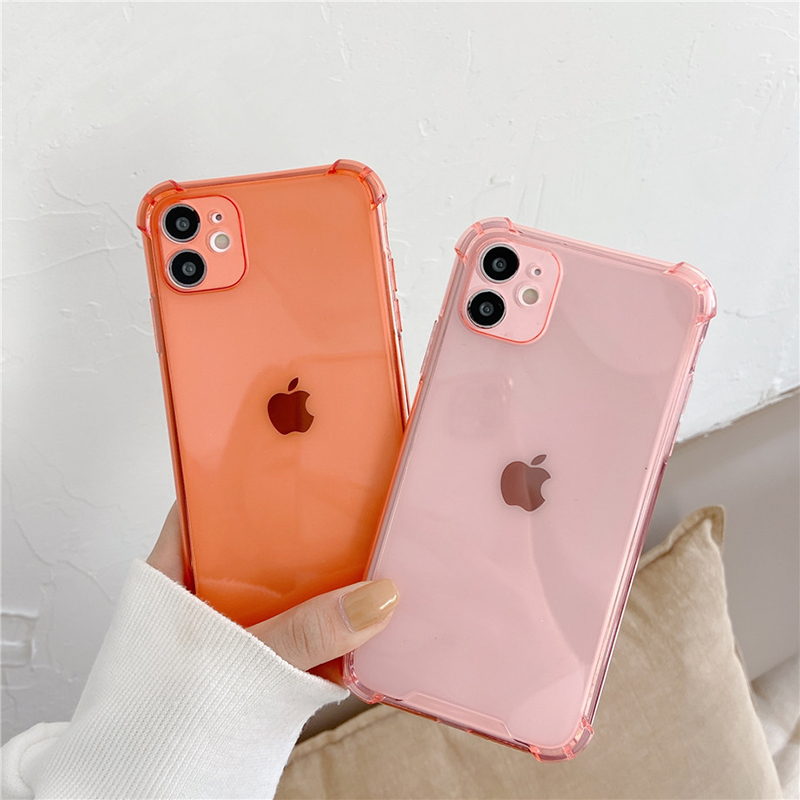 Camera Lens Silicone Protection Phone Case For iPhone 12 11 Pro Max X Xr Xs 7 8 6s Plus SE 2020 12 Mini Case Silicone Back Cover