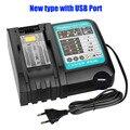 Зарядное устройство для Makita 14 4 V 18V BL1830 Bl1430 DC18RC DC18RA EU Plug 2 USB порта и 1 USB адаптер для вашего телефона