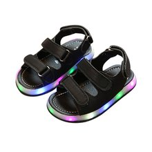 Summer Children Shoes LED Sandals Kids Luminous Shoes Baby Boys and Girls Sports Shoes Cool Lamp Sandals Non-slip Sandals