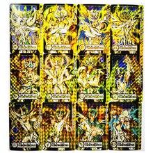12pcs/set Saint Seiya Golden Zodiac Twelve Gold Golden Soul Toys Hobbies Hobby Collectibles Game Collection Anime Cards