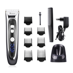 Image 1 - Professional Hair Trimmer for Men Rechargeable Electric Hair Clipper with Limit Combs Length Adjustable Ceramic Blade 35