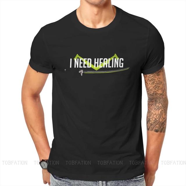 I need healing O Neck TShirt Overwatch Fabric Basic T Shirt Man's Tops New Design Oversized