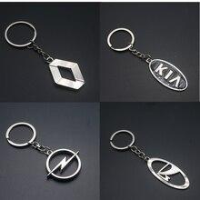 3D Chaveiro de Metal Chave Anéis Da Cadeia Chave Para AUDI A1 A3 A4 B5 B6 B7 B8 A5 C5 A6 C6 C7 A7 A8 A1 100 V8 8V Q3 Q5 Q7 Car Styling