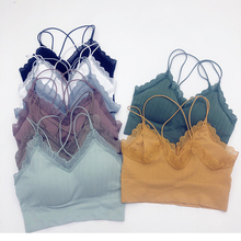 Bra Underwear Vest Lace-Tube-Top Seamless-Bra Chest Push-Up Large-Size Student New Wrapped