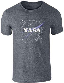 Zatwierdzone przez NASA Logo klopsa z gwiazdami ciemnoszara koszulka z grafiką 3XL T-Shirt męski tanie i dobre opinie Podróż TR (pochodzenie) Cztery pory roku Z okrągłym kołnierzykiem SHORT normal COTTON Na co dzień Znak