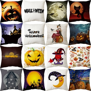 Halloween Decoration Pumpkin Cushion Cover Scary Halloween Party Decoration For Home Horror Halloween Party Props Supplies Decor halloween cartoon doll pumpkin witch cat party ideal decoration for club bar shop home showcase bar table shelf holiday decor