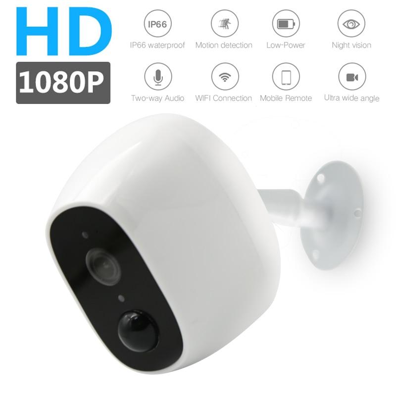 Wireless surveillance camera 130° wide-angle lens PIR human body induction IP66 waterproof 1080P remote surveillance camera