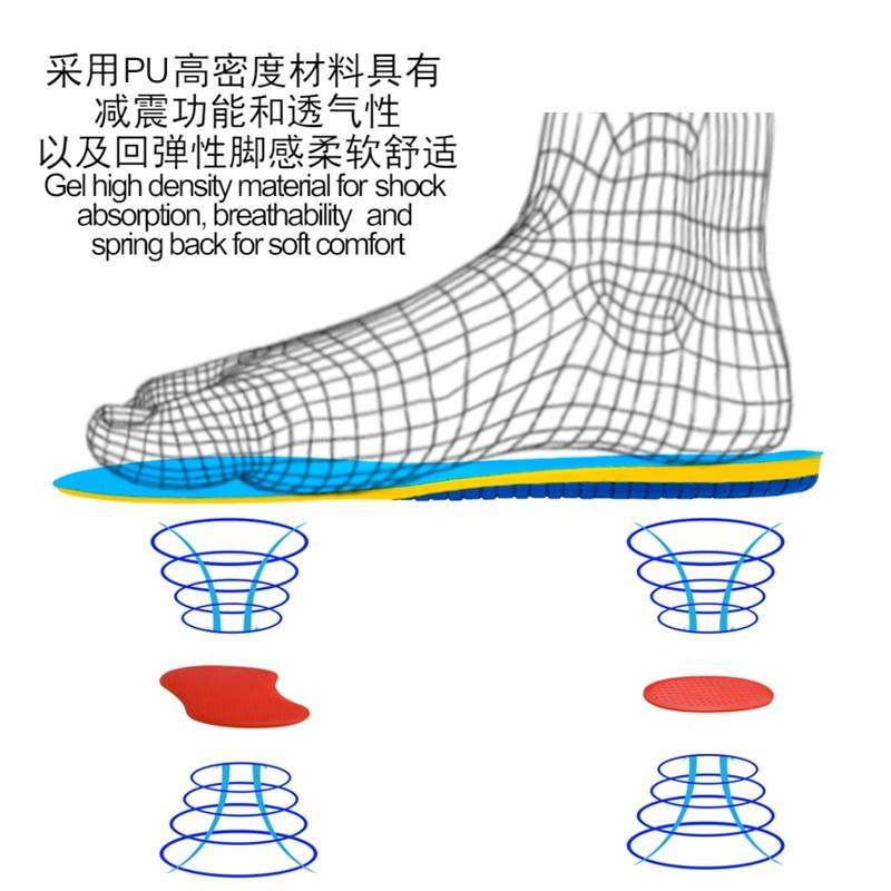 Semelles pour chaussures chaussures de massage inserts semelles orthopédiques soins des pieds pour fasciite plantaire semelles respirantes pour hommes/femmes