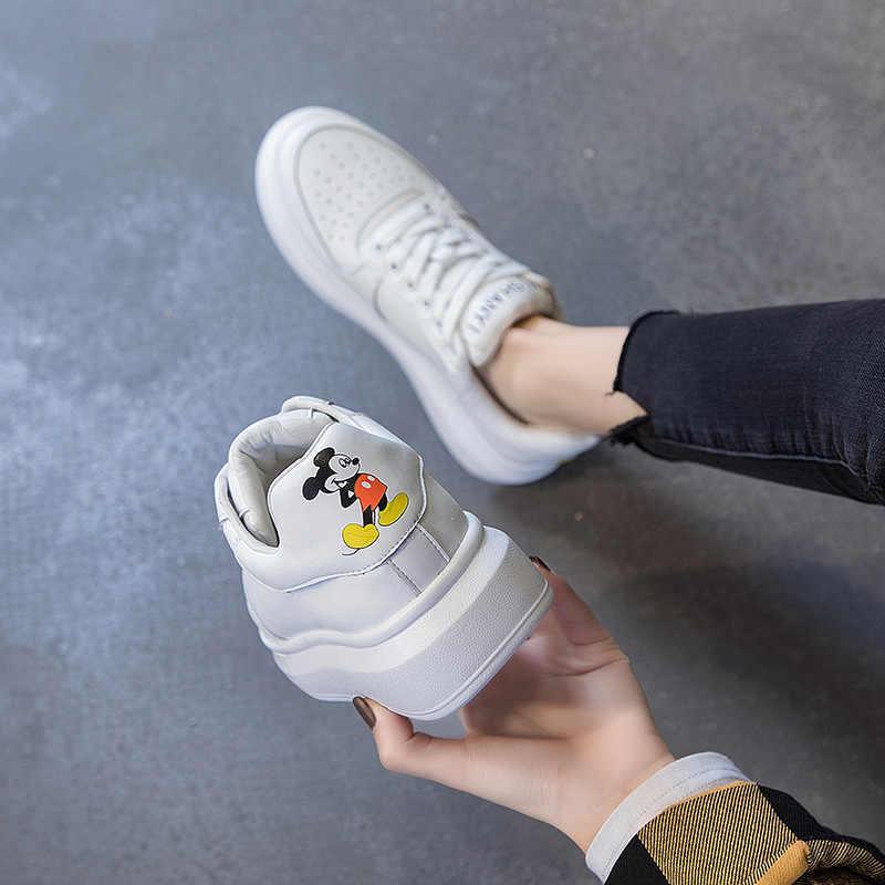 Ventilatie, Kleine Witte Schoenen, Vrouwen Rondom Platform Schoenen Met Dikke Zolen, nieuwe Stijl Populair In Zomer 2020
