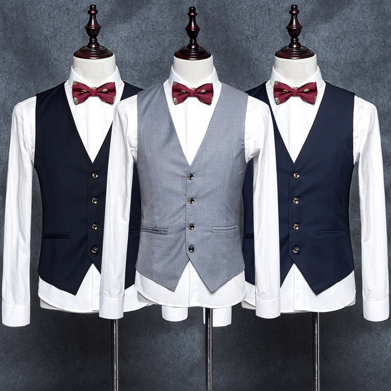 2019 New Dress Vests For Men Slim Fit Mens Suit Vest Male Waistcoat Gilet Homme Casual Sleeveless Formal Business Jacket