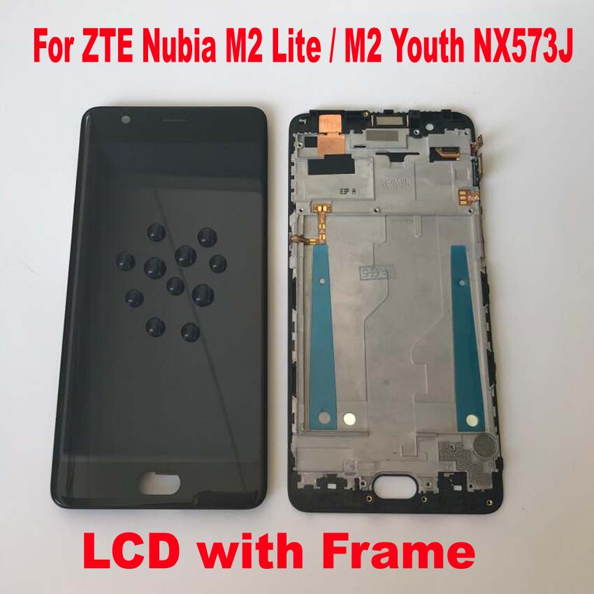 Original For ZTE nubia M2 lite NX573J LCD Display Touch Screen Assembly with frame Phone Pantalla For M2 Youth(China)