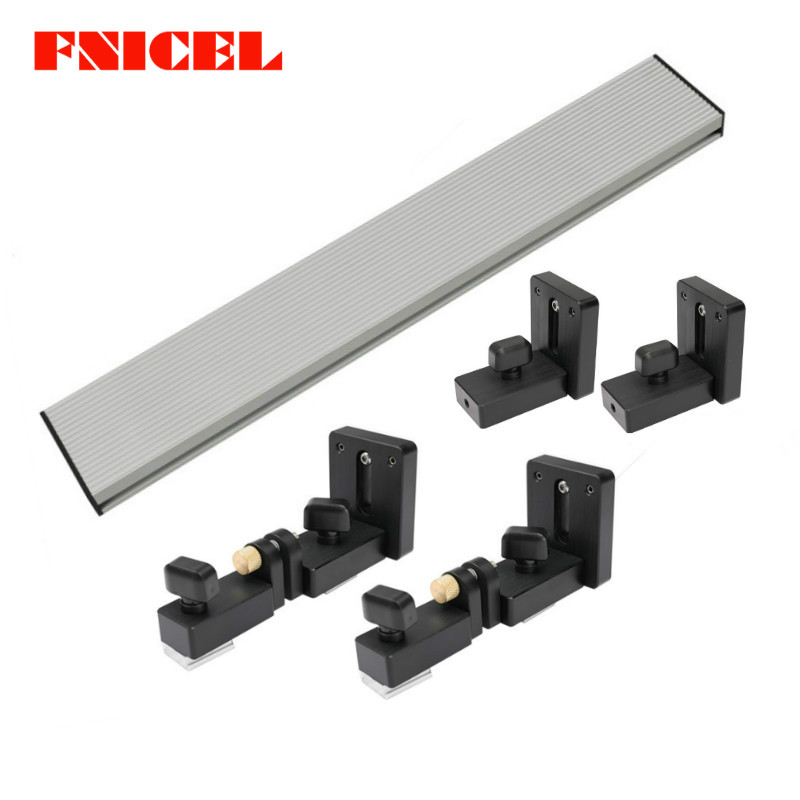 Aluminium Profile Fence And T Track Slot Sliding Brackets Miter Gauge Fence Connector For Woodworking Router/saw Table Benches